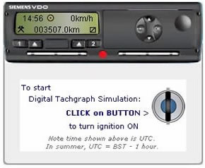 tachograph manual entry instructions